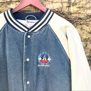Walt Disney World Mickey Mouse Denim Letterman